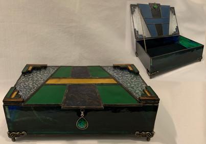 Stained Glass Art Deco Keepsake Box