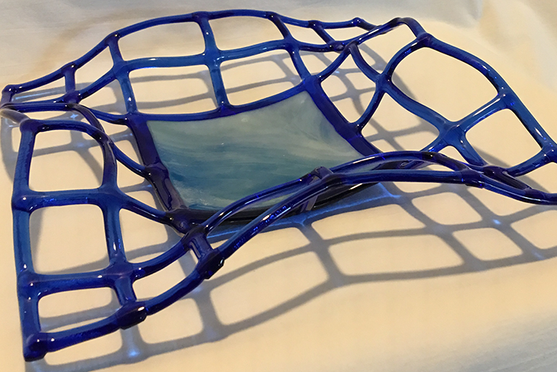 Blue Lattice Bowl