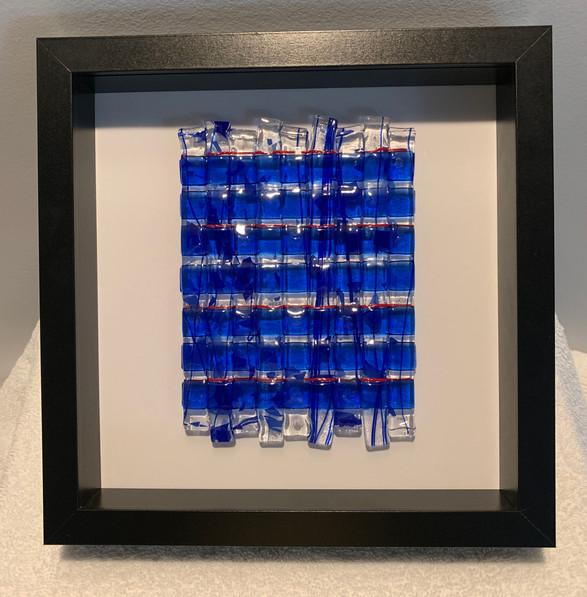 Framed Fuse Glass (Blue Woven)