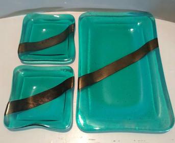 Gold Inlay Sushi Set (3 Pieces)