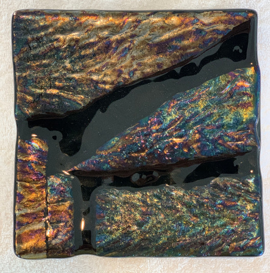 Uncat Gold Glass Plate