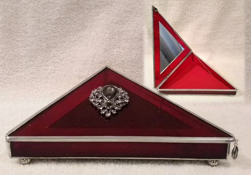 Red Stained Glass Keepsake Box