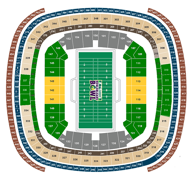 Superdome seating chart