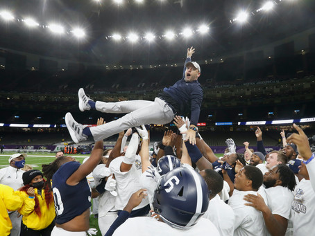 Georgia southern dominates Louisiana tech in 2020 R+L Carriers New Orleans Bowl