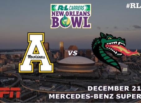 App State and UAB accept invitations to 2019 R+L Carriers New Orleans Bowl