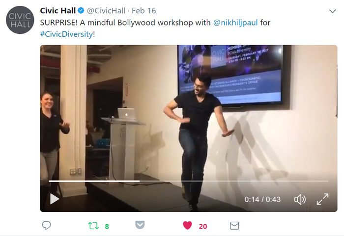 1st rule of civic engagement - dance through it