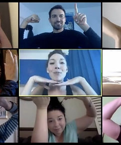 remote-team-doing-online-team-building-a
