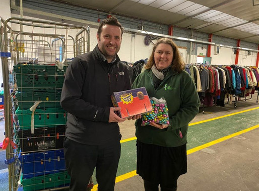 Sweet Relief: Coventry BID Give Eggcellent Donation To Local Foodbank
