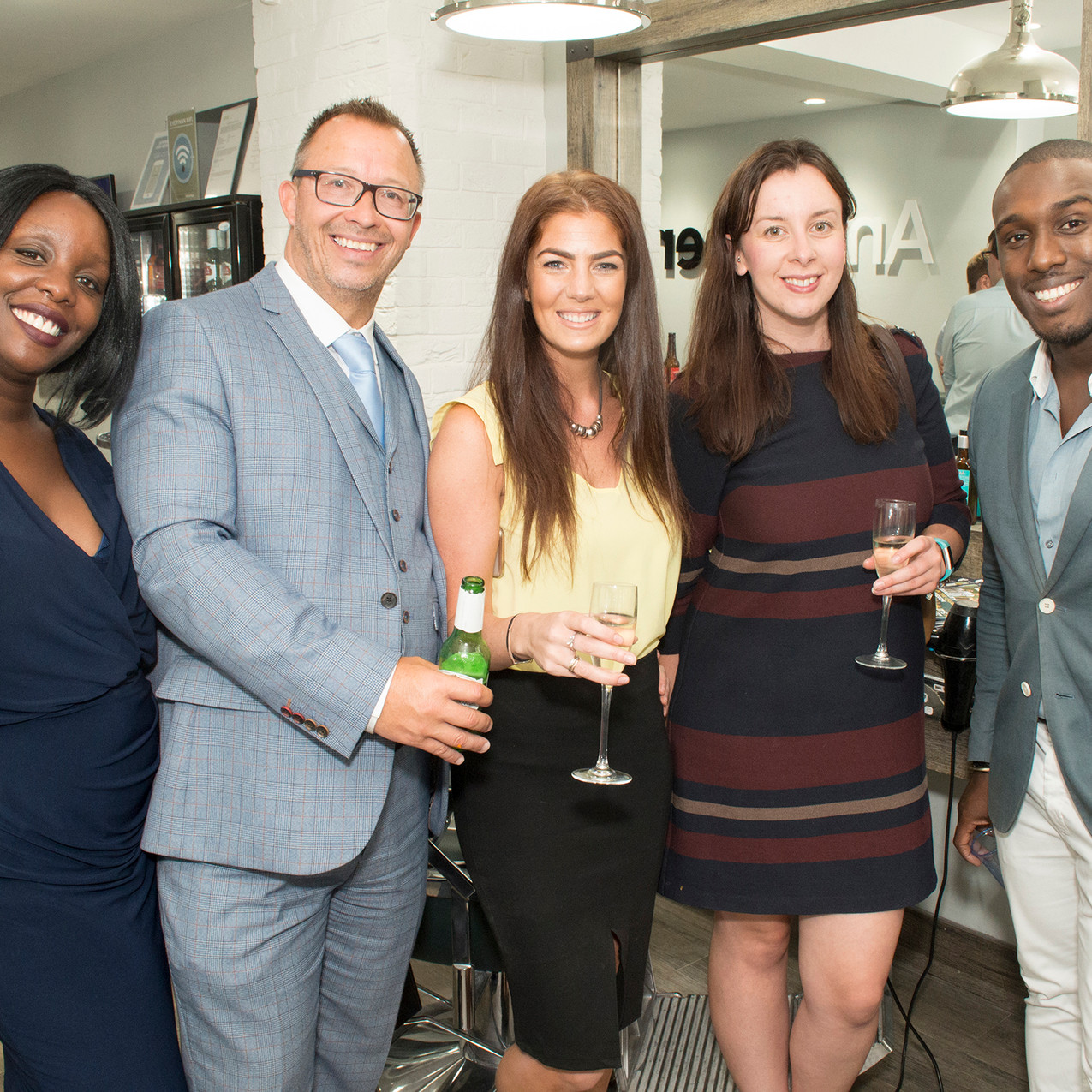 Denise Morris,  Russell Hobbs, Chrissie Wolfe, Katie Holt with Aaron Archer, Selfridges Personal Shopper
