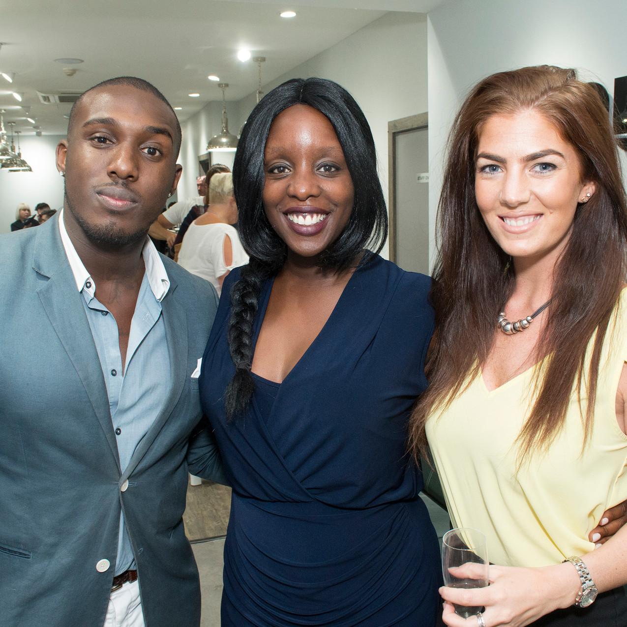 Selfridges Personal Shopper Aaron Archer with Denise Morris, Chrissie Wolfe