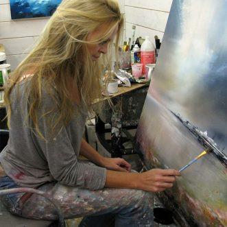 Meet Artist Alison Johnson at Oberon Gallery, Leicester