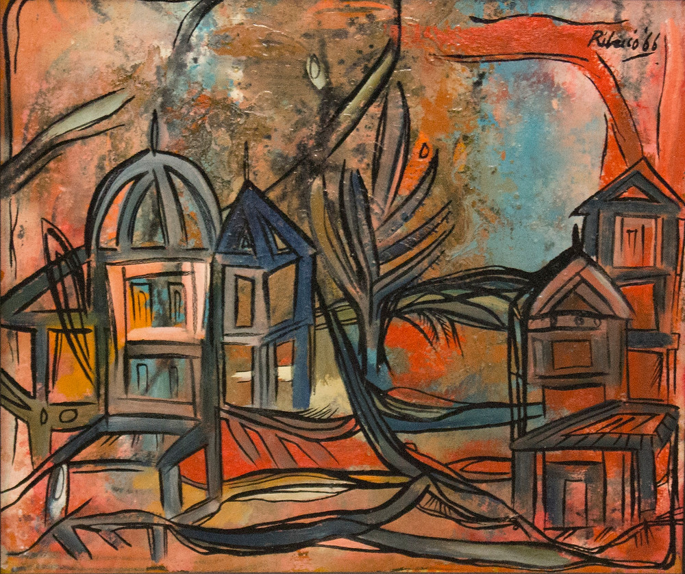 RIB, Red Landscape with Dome, 1966
