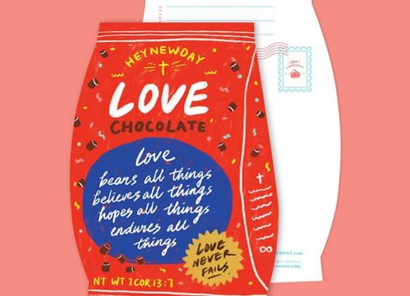 (Love Supermarket) Love Chocolate Card