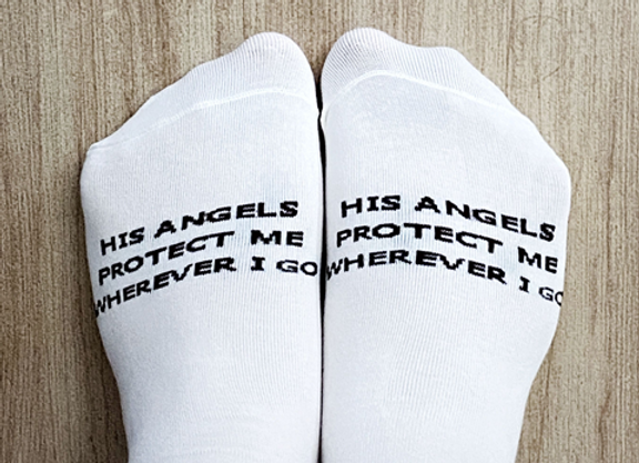 the Super Blessed Psalm 91 Ankle Socks - Men