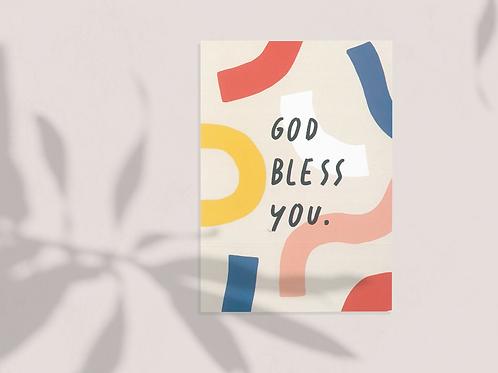 God Bless You Premium Post Card