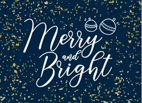 Christmas Cards - Merry and bright (Assorted)