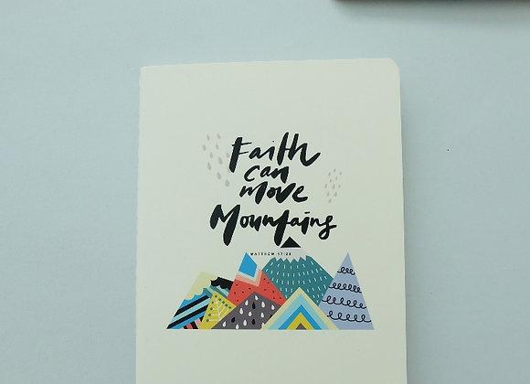 MORI- Faith can move mountains - Refill NOTEBOOK