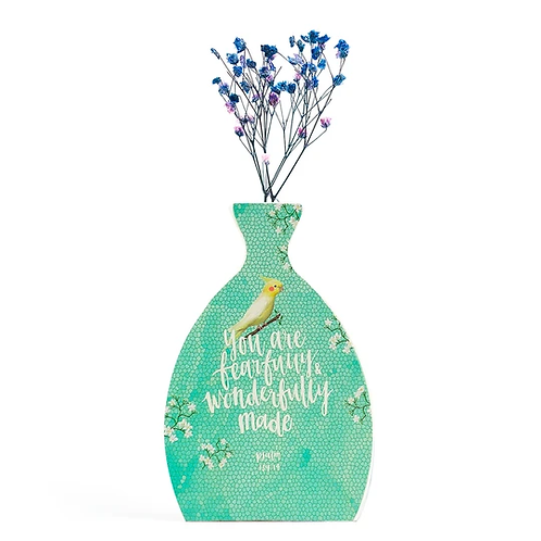 Fearfully And Wonderfully Made (Wooden Vase)