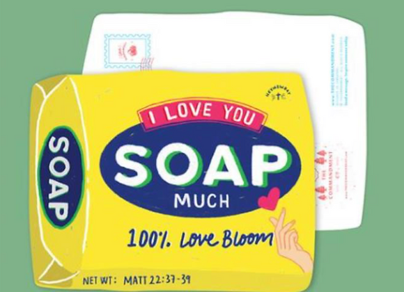 (Love Supermarket) I Love You Soap Much Card