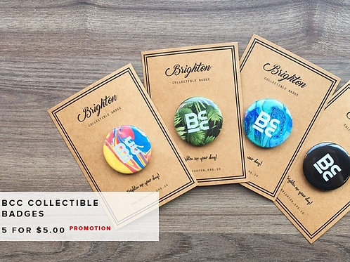 BCC Collectible  Badges - 5 Badges
