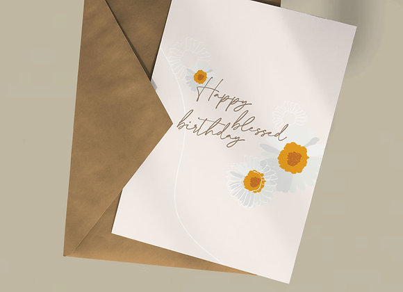 Happy blessed birthday card