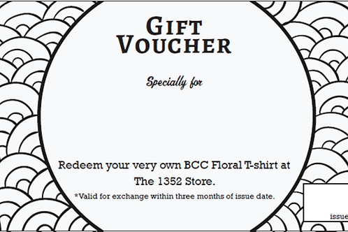 Gift Voucher for BCC Floral T-shirt