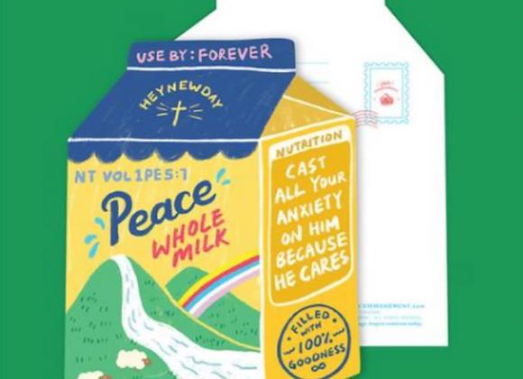 (Love Supermarket) Peace Whole Milk Card