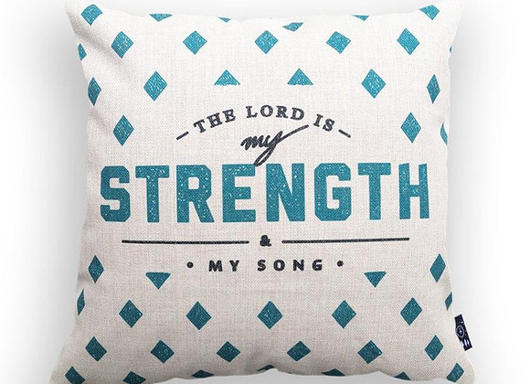 The Lord is My Strength and My Song {Cushion Cover}