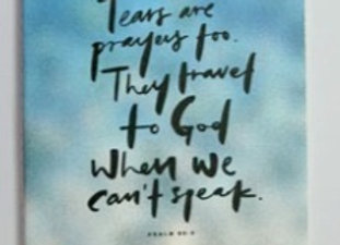 MORI- Tears are prayers - Refill NOTEBOOK