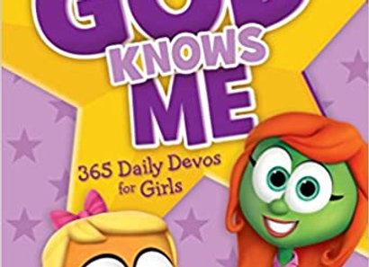 God Knows Me: 365 Daily Devos for Girls (VeggieTales)