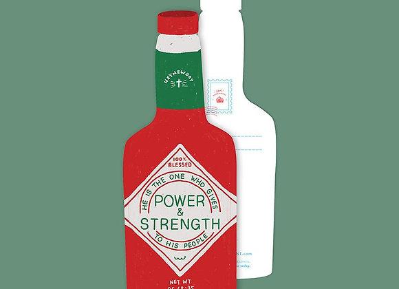 Power & Strength Chilli Sauce (LOVE SUPERMARKET Card)