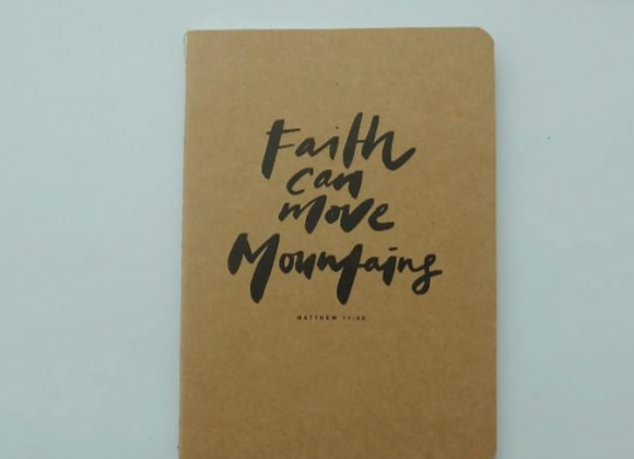 MORI - Faith can move mountains kraft - Refill NOTEBOOK
