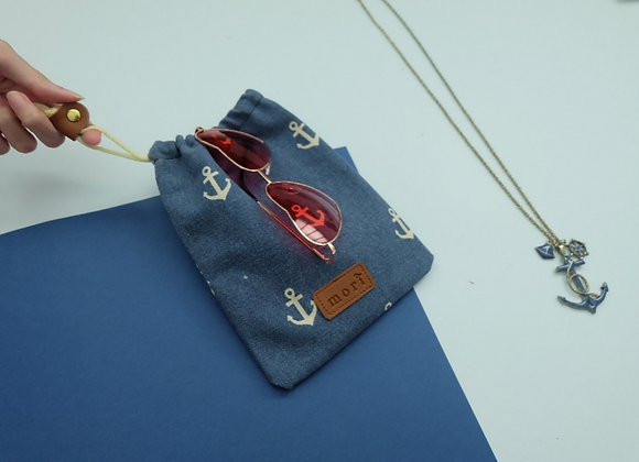 Anchor drawstring pouch