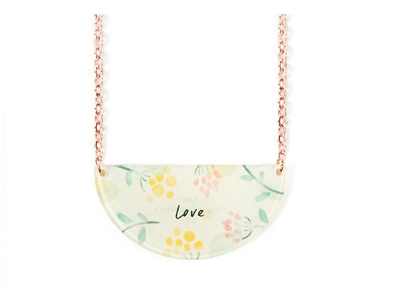 Love{Semicircle necklace}