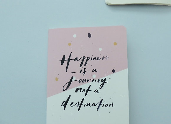 MORI- Happiness is a journey - Refill NOTEBOOK