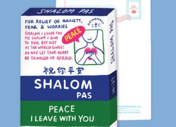 (Love Supermarket) Shalom Pas - Peace I leave with you Card