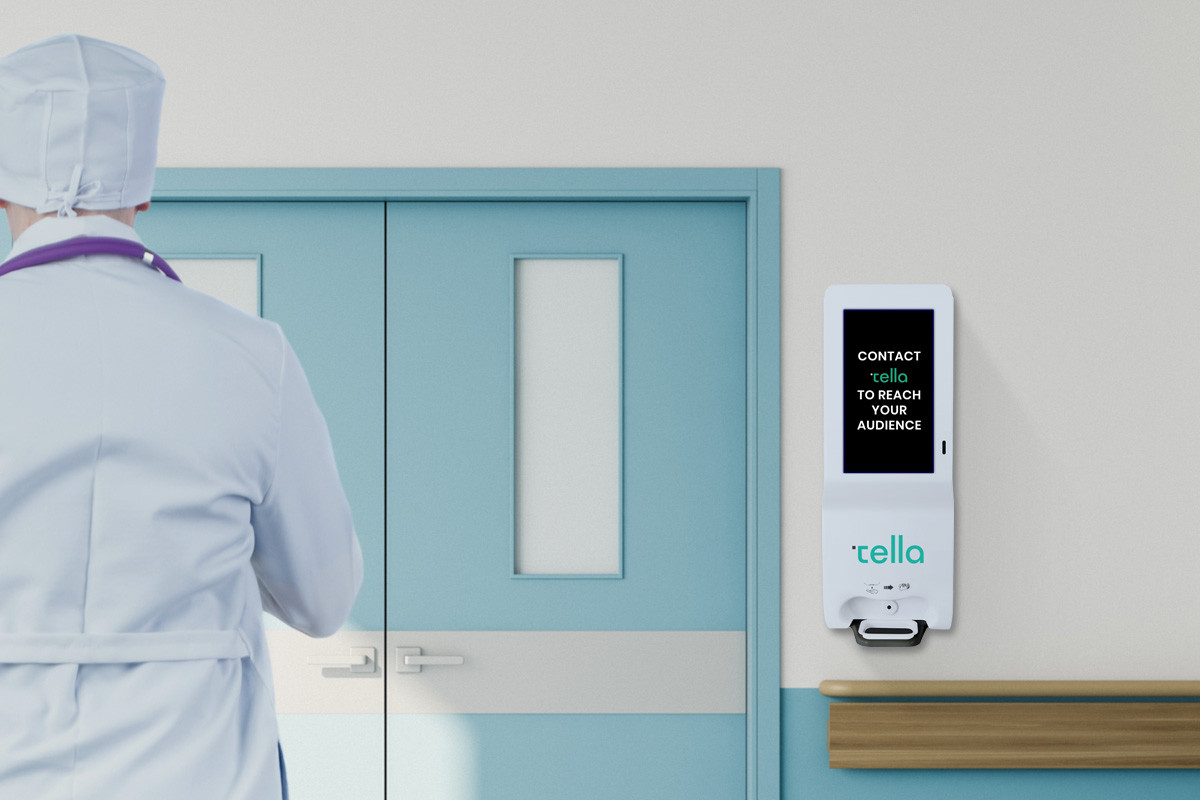 Digital Hand Sanitizing Kiosk Healthcare