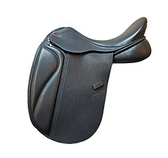 NSC Aotearoa Tempo Dressage Saddle in Black Smooth Leather