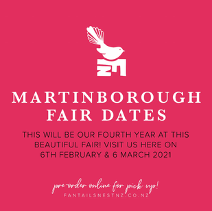 See you this weekend at the Martinborough Fair!