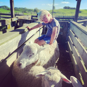 It's tough being a 3-year-old farmer