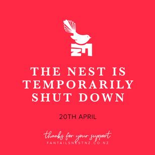 Fantail's Nest NZ Temporarily Shut Down