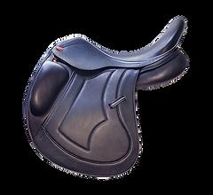 NSC SRV Dressage Saddle in Black Italian Calf