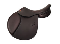 NSC Pony Pizazz Jump Saddle in Brown Smooth Leather