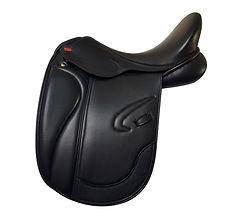 NSC Aotearoa Tempo Dressage Saddle in Black Italian Calf