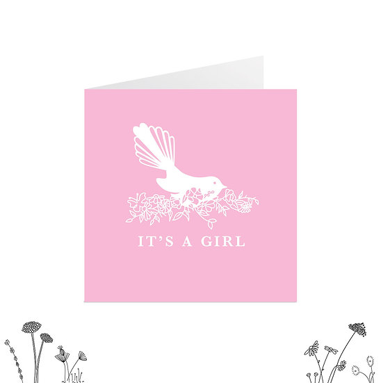 'It's a Girl' Greeting Card