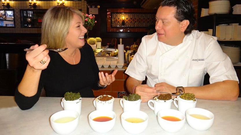 Tea tasting with chef Julian Medina