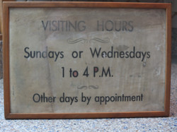 Sign in the ward