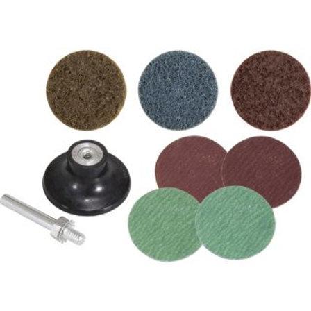 Jogo de Discos de Lixa com Esponja Abrasiva 50 mm, 9 peças