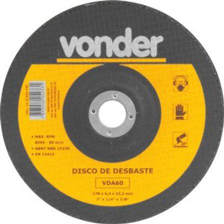 Disco de desbaste 180 mm x 6,4 mm x 22,23 mm VDA 60