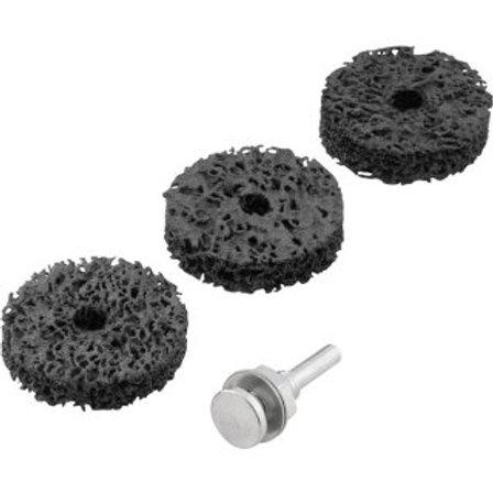 Jogo de Esponjas Abrasivas para Polimento Médio, com Haste